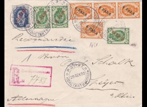 Registered Letter from Constantinople to Germany 1900