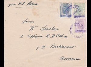 1896: Letter from Romana to Bucuresci: RD Cobra - Officer