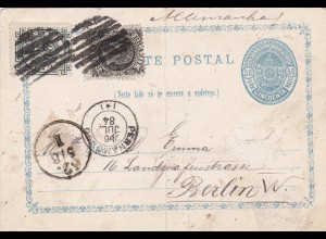1884: Carte Postal from Brazil to Berlin