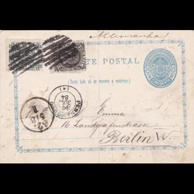 1884: Carte Postal from Brazil to Berlin