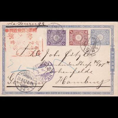 1907: Postcard from Japan/Yokohama to Germany