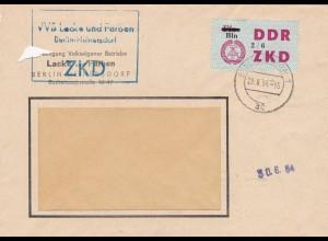 1964: DDR ZKD - Lacke und Farben Berlin