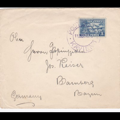 19xx: Letter from New Guinea to Germany: Vignette: Missionsdampfer Herz-Jesu
