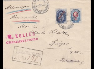 1903: Registered letter Constantinople to Germany
