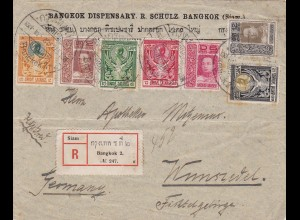 1913: registered letter from Bangkok to Wunsiedel