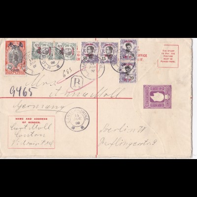 1908: Letter from Hongkong to Berlin