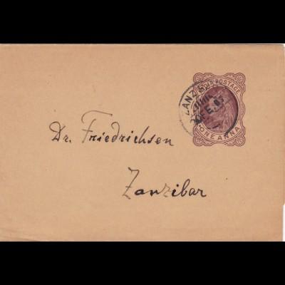 India Postage-One Anna Zanzibar
