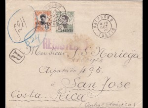 1920: Indo-Chine Haiphong to San Jose/Costa Rica