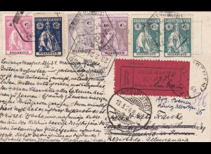 1924: card postale Mocambique -registered- to Germany