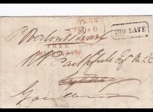 1846: Australia /Sydney : Free Melbourn: Too late