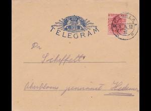 1913: Sweden/Telegram nach Uppsala - 10 Öre