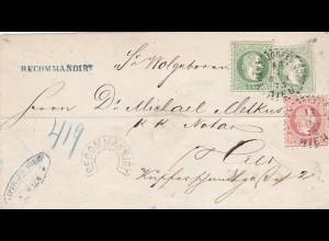 1873: Wien: R-Stempel in Hufeisenform