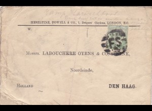 1907: letter from London to Den Haag