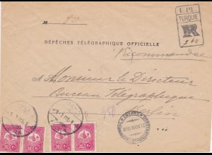 1908: Dépeches Télégraphique Officielle: Turkey to Berlin: Telegram