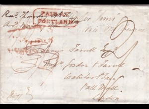1849: Letter Paid by Portland/Melbourne to London
