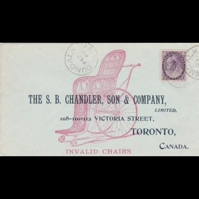 1899: Canada Dundalk to Toronto: Invalid chairs, Microscopes