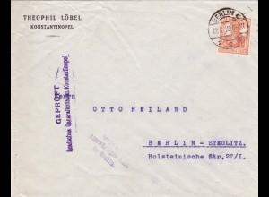 1918: Konstantinopel: Geprüft Generalkonsulat nach Berlin