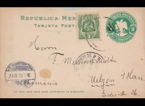 1905: Post card Mexico to Uelzen/Germany