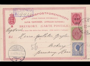 1909: Dansk-Vestinidisch to Germany, registered St. Thomas
