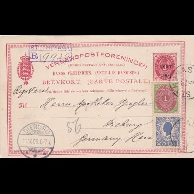 1909: Dansk-Vestinidisch to Germany, registered St. Thomas