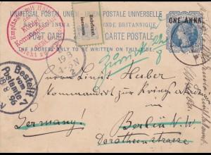 1896: Havanna to Berlin, Not known, Empfänger mit Hülfe der königl. Kommandantur