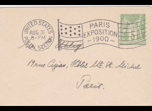 1900: Paris Exposition - United States Postal Station