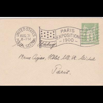 1900: Paris Exposition - United States Postal Station