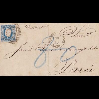 1876: Portugal/Vila Nova de Gaya - Post ship to Brazil
