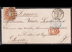 1870: Portugal to France, MiNr. 30