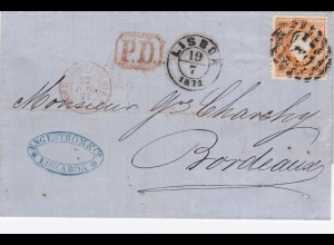 1871: Portugal to France-Bordeaux, MiNr. 30