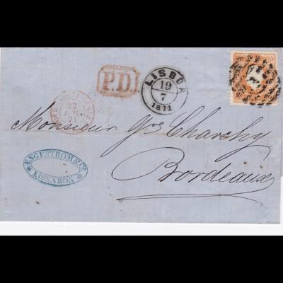 1871: Portugal to France-Bordeaux, MiNr. 30