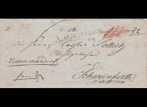 1815: Brief Lauterbach nach Schweinfurth, Recommandiert