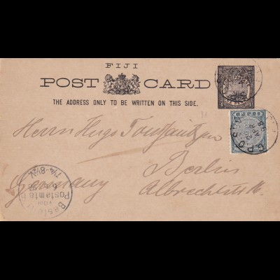 1898: Fiji to Berlin - post card