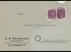 1945: Juni, Chemnitz nach Senftenberg - Perfin !!!
