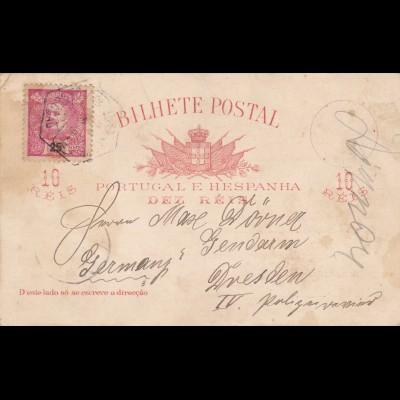 1910: Portugal Ansichtskarte: S.S. Kanzler Durban