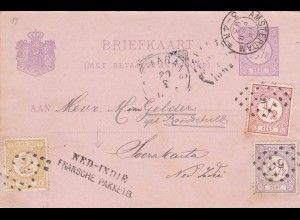 1893: Amsterdam /Netherlands Indie post card