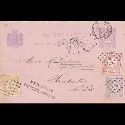 1893: Amsterdam /Netherlands Indie post card