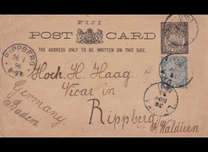 1895: Fiji: post card to Rippberg