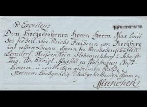 Brief: Geislingen/Donzdorf nach München: an Freiherr von Rechberg