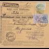 1907: parcel card Romaina/Bucaresti to Hungary