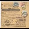 parcel card Romaina/Bucaresti 1907 to Austria