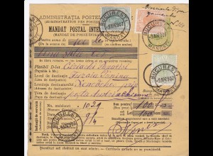 parcel card Romaina/Bucaresti 1907 to Austria