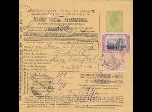 1907: parcel card Romaina/Bucaresti to Bulgaria