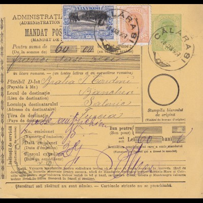 1907: parcel card Romaina/Bucaresti to Austria