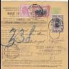 1907: parcel card Romaina/Bucaresti to Constantinopel