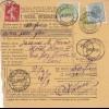Parcel card Romaina/Bucaresti to France/Paris 1907