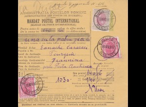1907: parcel card Romaina/Bucaresti to Australia