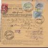 parcel card Romaina/Bucaresti 1907 to France