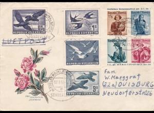 Österreich: MiNr. 984/985 u.a. - Bedarfsbrief