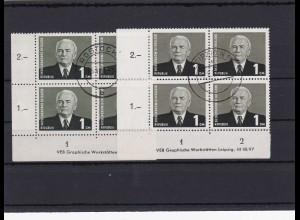 DDR MiNr. 342bbII, IIIDZ 1953, gestempelt Leipzig, Rostock, BPP Signatur